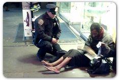 Candid picture of NYC police officer goes viral on Facebook