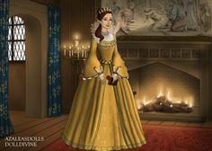 Princess Belle in Tudor style