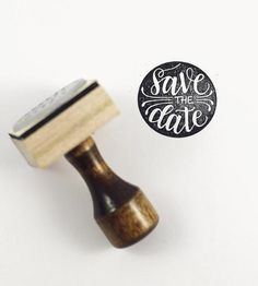 Save The Date Hand-Lettered Stamp by How Joyful on Scoutmob Shoppe