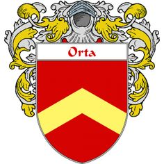 Orta Coat of Arms     http://spanishcoatofarms.com/ has a wide variety of products with your Hispanic surname with your coat of arms/family crest, flags and national symbols from Mexico, Peurto Rico, Cuba and many more available upon request.