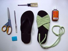 Flip Flop make-over.  Easy tutorial included.