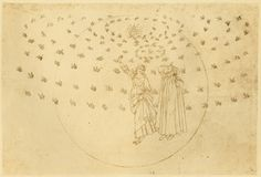 23.1  Eighth sphere (heaven of fixed stars); Vision of the triumphant Christ; Dante sees Beatrice in her true guise; The blessed Virgin; The twelve apostles    Creator: Botticelli, Sandro    Date: c.1480-c.1495