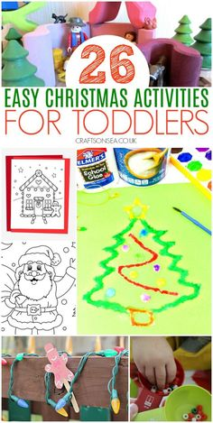 Over 60 simple but fun Christmas activities for toddlers with inspiration for Christmas crafts, Christmas sensory play ideas and easy Christmas activities. Christmas Activities For Toddlers, Fun Activities For Preschoolers, Preschool Crafts, Toddler Activities, Preschool Activities, Fun Crafts, Santa Crafts, Christmas Crafts For Kids, Simple Christmas