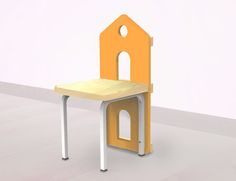Chair Orange - CocoMoco Kids It's more than just a chair Let your child's imagination flow  Place trees over it and make your home a beautiful garden Crafted for role-play and to build creativity