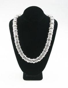 """Gorgeous 14k White Gold & Bead-Set Diamond Cable Necklace 17.25"""" TDW = 12.57 ct #Unbranded #Chain"""