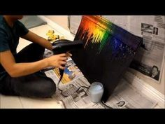 DIY: Crayon Melt I'd like to to half-size poster boards, painted with chalkboard paint and put them up in the kids rooms for notes, reminders, etc. Melted Crayon Crafts, Diy Crayons, Melting Crayons, Diy Wall Art, Diy Art, Crayon Art Tutorials, Projects For Kids, Art Projects, Fun Crafts