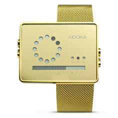 Nooka Inc gold BLING watch