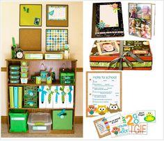 Organizing Homework | Homework station - Love this