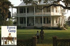 """A look back at the 1994 movie """"Forrest Gump"""" starring Tom Hanks and the filming locations for settings like Gump's plantation house in Greenbow, Alabama. Ranch House Plans, Craftsman House Plans, Modern House Plans, Small House Plans, Forrest Gump, Verona, Old Southern Plantations, Norman Rockwell Paintings, Antebellum Homes"""