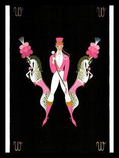 "Erte Art Deco Alphabet Series ""W, X"", Erotic Double Sided Vintage Print Fashion Wall Art, Art Deco Fashion, Vintage Fashion, Gustav Klimt, Illustrations, Illustration Art, Art Nouveau, Erte Art, 7 Arts"