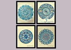 A personal favorite from my Etsy shop https://www.etsy.com/listing/503050883/sea-theme-mandala-wall-decoration-set-of