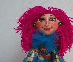 """""""Bailarina"""" Fabric doll. Elsa Sanguino. 2015"""