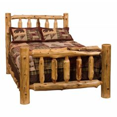 love the bed Cedar Traditional Bed-Complete | Rocky Mountain Cabin Decor