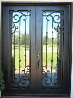 front doors with iron and glass - Google Search
