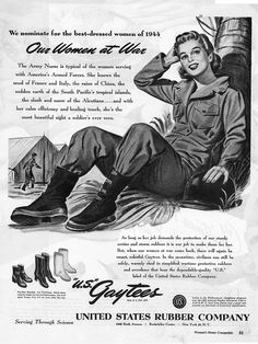 The best-dressed woman of 1944. #vintage #1940s #WW2 #women #ads