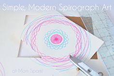 Simple, Modern Spirograph Art (tutorial). #spirograph #art #crafts