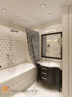 Фото ванная комната из проекта «Дизайн трехкомнатной квартиры 100 кв.м. в стиле неоклассики, ЖК «Смольный парк»»