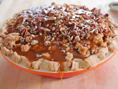 Caramel Apple Pie : The Pioneer Woman takes her apple pie to a new level by topping it with gooey caramel and crunch pecan. Don't forget the crumb topping, made with brown sugar and quick oats, for an extra texture.