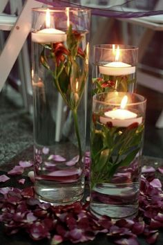 cylinder centerpieces wedding | Image detail for -GLASS CYLINDER CENTERPIECES | wedding
