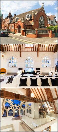 Abandoned by its brethren, this historic London church has been converted to a fashionable family home! This makeover combines the best of both worlds - modern home comfort and history. Take a tour and see the modern interior of this old Victorian-style building by viewing the album on our site: http://architecture.ideas2live4.com/2015/08/08/london-church-living/ What do you think? We'd love to hear what you have to say about it. Would you like to live in this recycled home?
