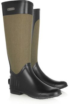 Burberry cotton boots...might justify a move to a state with an annual rainfall greater than 5 inches? Or just because