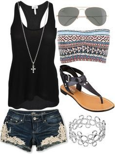 Summer fashion..soo ready for flip flops and warm weather!