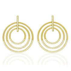 Carelle Jewelry - Large Moderne Trio Earrings, $6,995 (http://www.carelle.com/large-moderne-trio-earrings/)
