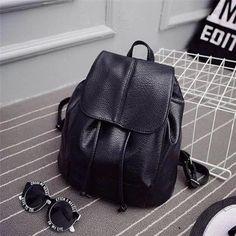 e58b64fe84 Fashion Sac à dos Femme en PU simili cuir Sac à dos femme noir Sac à dos de  voyage shopping