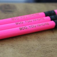 Boo You Whore Mean Girls Quote 3 Pack Pencil Set