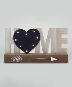 Look at this 'Home' LED Block Sign on #zulily today!