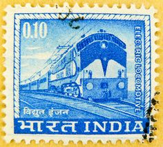 blue stamp India 0.10 postage railway electric locomotive टिकटों भारत timbre Inde 郵便切手 切手 スタンプ インドの frimærker Briefmarken indien γραμματόσημα Ινδία марки Индия железная дорога 邮票 印度 sellos selos India 우표 인도 แสตมป์ ประเทศอินเดีย francobolli India postzegel