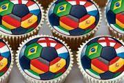 2014 Brazil World Cup cupcakes!