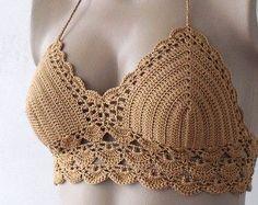 Crochet Red Bikini Top-Bustier Women Bikini Top by formalhouse