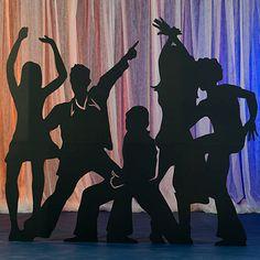 Disco Party Silhouettes