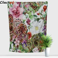 150x200 New Arrival Tapestry Tapestries Blanket Wall Hanging Floral Beach Towel Rectangle India Home Decor Beach Towel For Gift