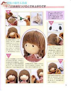 doll hair making