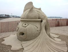 Fish out of water, made out of sand! (Hampton Beach, NH)