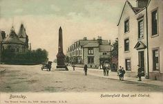 Yorkshire, Barnsley, Huddersfield Road and Obelisk Barnsley South Yorkshire, Local History, Vintage Postcards, Worlds Largest, Taj Mahal, Beautiful Places, Places To Visit, Piano Sheet, Caravan