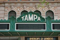 Tampa Theater marquee, Tampa, FL
