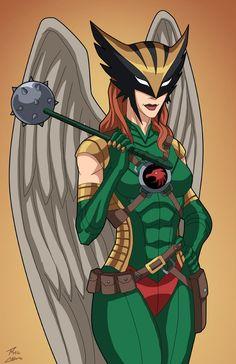 Hawkwoman (Earth-27) commission by phil-cho.deviantart.com on @DeviantArt