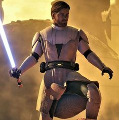 """Obi-wan Kenobi became a Jedi General in the Grand Army of the Republic during the Clone Wars as he led the Republic to many famed victories, and came to be known as """"The Negotiator"""". His apprentice,. Star Wars Pictures, Star Wars Images, Obi Wan, Star Wars Clone Wars, Star Wars Art, Star Wars Kenobi, Jedi Armor, Saga, Alec Guinness"""