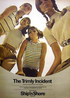 Trimly fashion - knit tops ad - 1968.
