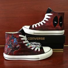 Superhero Ant Man High Top Converse Shoes Hand Painted Canvas Sneakers