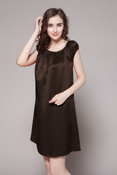 You'll feel as pretty as a melody when you wear this 100 natural silk chemise . $85 #nightgowns #silk #lilysilk