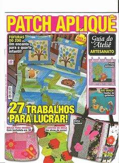 157 Guia do At. Patch Aplique n. 4 - maria cristina Coelho - Picasa Web Albums...FREE MAGAZINE WITH NICE APPLIQUÉS!!