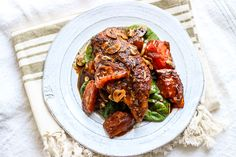 Balsamic Garlic Chicken - Intensely flavorful and wonderfully healthy, rustic