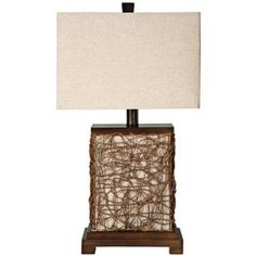 "Freeport Wood-Rattan With Nightlight 27"" High Table Lamp Lamps Plus http://www.amazon.com/dp/B006CKQ6M8/ref=cm_sw_r_pi_dp_6wBWtb06318RWCCQ"