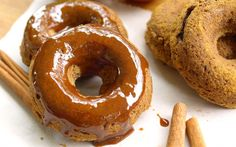 Spiced Apple Doughnuts With Apple Cider Glaze [Vegan, Gluten-Free] | One Green Planet