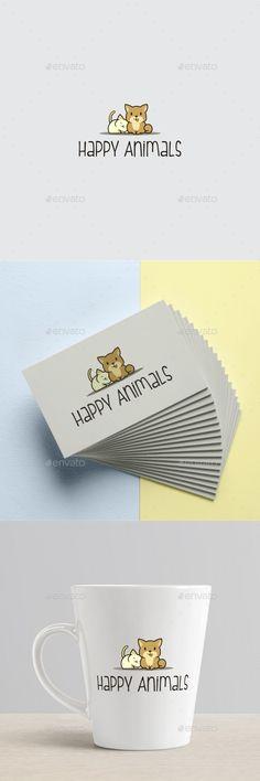 Happy Animals Logo Template - Animals Logo Templates