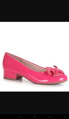 Saltinho baixo rosa com laço